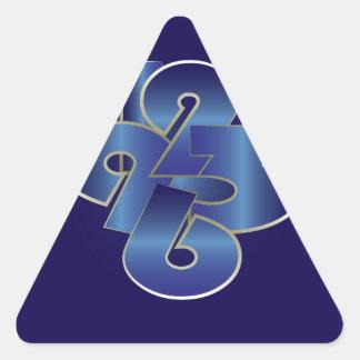 Sticker Triangulaire vingt-quatre heures sur vingt-quatre