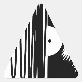 Sticker Triangulaire vinil de musique
