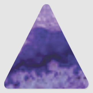 Sticker Triangulaire violette de crevasse de fente