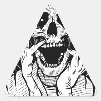 Sticker Triangulaire visage de diable