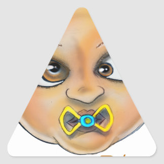 Sticker Triangulaire Visage de la baie B