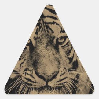 Sticker Triangulaire Visage de tigre