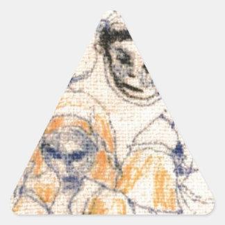 Sticker Triangulaire Visages