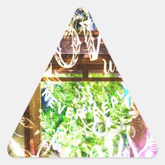 Sticker Triangulaire Voie d'arc-en-ciel à celle qui nous aiment