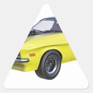 Sticker Triangulaire voiture de muscle des années 70 en jaune et noir