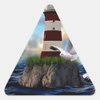 Sticker Triangulaire Voler d'oiseaux de phare
