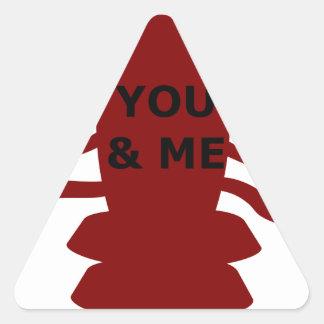 Sticker Triangulaire Vous et moi êtes des homards