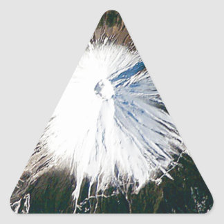 Sticker Triangulaire vue aérienne du mont Fuji