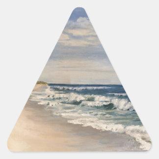 Sticker Triangulaire vue d'océan