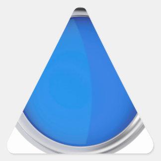 Sticker Triangulaire Vue supérieure de peinture bleue