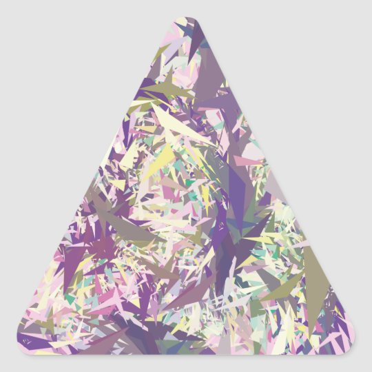 Sticker Triangulaire Yellow Green Pink