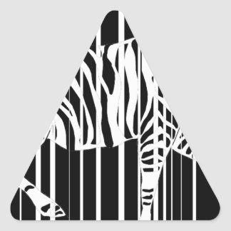 Sticker Triangulaire zebra-barre2xl