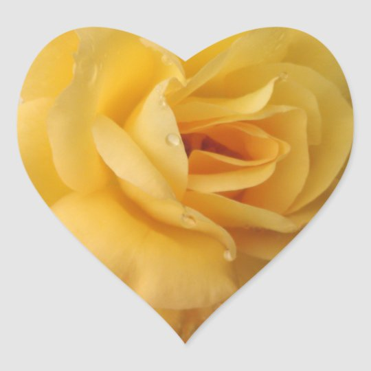 stickers coeur rose jaune