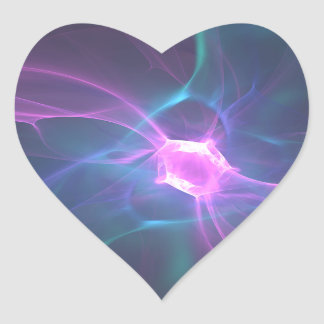 Stickers en forme de coeur Diamond Fractal