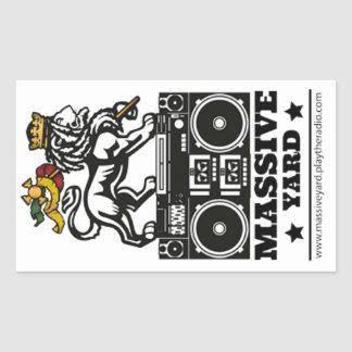 stickers Massive Yard White Lion Full 2018