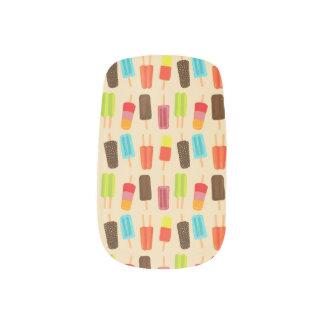 Stickers Pour Ongles Amusement et motif de Popsicles colorés rétro