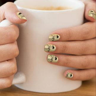 Stickers Pour Ongles Arrière - plan d'or de café