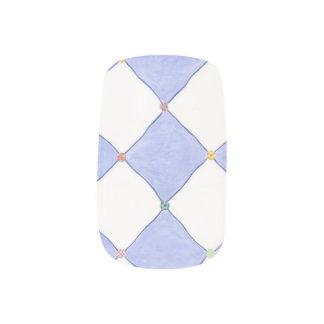 Stickers Pour Ongles Art blanc de clou de Lavendar de diamants de