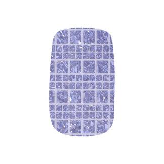 Stickers Pour Ongles Art bleu scintillant de clou