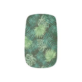 Stickers Pour Ongles Art de clou de Minx de feuillage de jungle