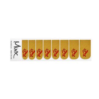 Stickers Pour Ongles Art de clou de Minx de Fox rouge
