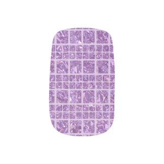 Stickers Pour Ongles Art pourpre scintillant de clou