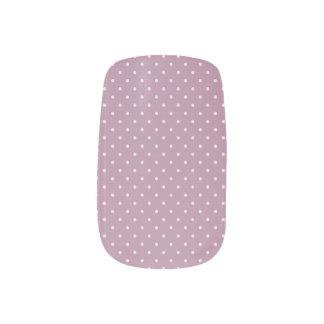 Stickers Pour Ongles Art rose de clou de Minx de pois