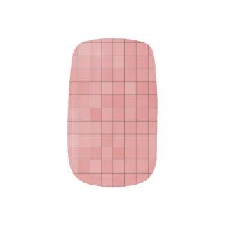 Stickers Pour Ongles Art rose de clou de pixel