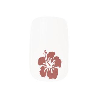Stickers Pour Ongles Art tropical de clou de fleur de ketmie