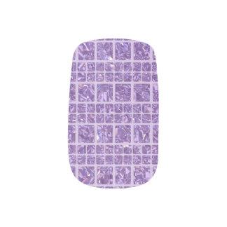 Stickers Pour Ongles Art violet scintillant de clou