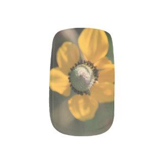 Stickers Pour Ongles Beau fleur sauvage jaune