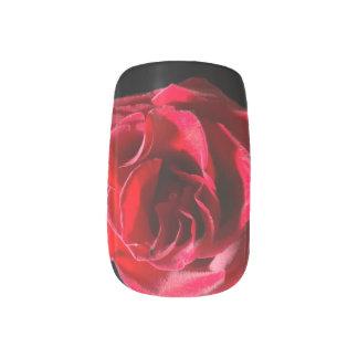 Stickers Pour Ongles Bout d'accent de rose rouge