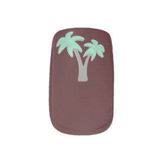 Stickers Pour Ongles Choisissez le palmier d'arrière - plan