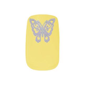 Stickers Pour Ongles Choisissez le papillon de gris d'arrière - plan