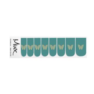 Stickers Pour Ongles Choisissez le papillon jaune d'arrière - plan
