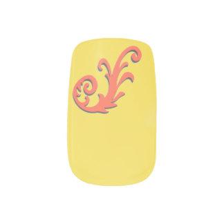 Stickers Pour Ongles Choisissez l'éclaboussure orange d'arrière - plan