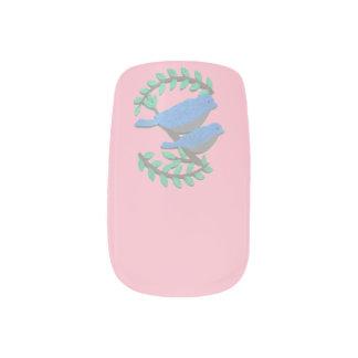 Stickers Pour Ongles Choisissez les oiseaux de Lil d'arrière - plan