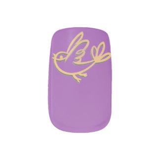 Stickers Pour Ongles Choisissez l'oiseau jaune d'arrière - plan