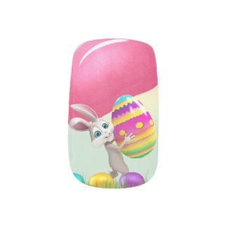 Stickers Pour Ongles Clous de Minx de lapin de Pâques