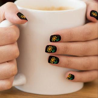 Stickers Pour Ongles Clous de Minx en verre souillé de fleur