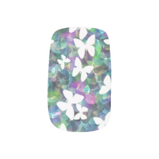 Stickers Pour Ongles Clous faux de conception de papillon