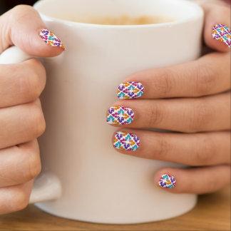 Stickers Pour Ongles Clous multi de Minx de motif de feuille de couleur