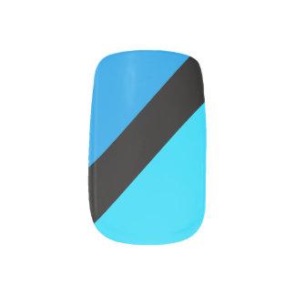 Stickers Pour Ongles Clous rayés de Minx de bleus de turquoise
