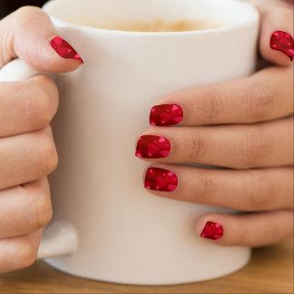 Stickers Pour Ongles Coeurs rouges romantiques