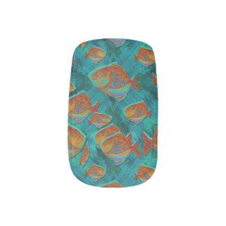 Stickers Pour Ongles Décalques chanceux d'art de clou de Minx de pêche