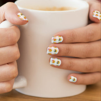 Stickers Pour Ongles Décalques colorés de clou d'Emoji