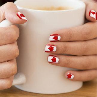 Stickers Pour Ongles Décalques de clou de drapeau du Canada d'ongles de