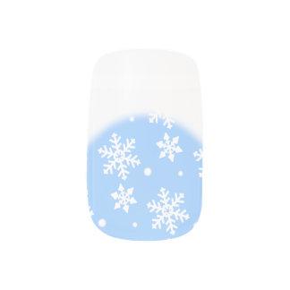 Stickers Pour Ongles Décalques de clou de neige de Noël d'ongles de