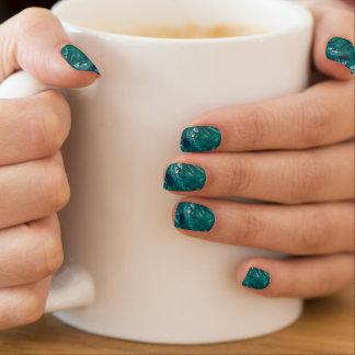 Stickers Pour Ongles Décalques de marbre de clou de turquoise