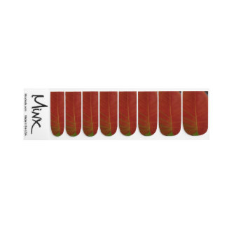 Stickers Pour Ongles Feuille du feu rouge